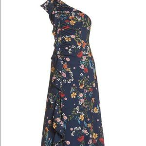 C/MEO Collective No Matter Floral OneShoulder Gown